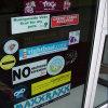Die-Cut статический стикер автомобиля винила PVC этикеты окна