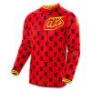 Rote Farbe weg Straßen-vom komprimierenden Sport-Kleid, das Jersey (MAT66, läuft)