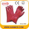 Anti-Schmieröl rote Farbe PVC-überzogene industrielle Sicherheits-Handarbeits-Handschuhe (51206)