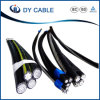 cabo Twisted do ABC da isolação do alumínio XLPE das despesas gerais 3X35mm2