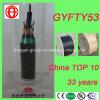 Cabo de fibra óptica blindado da bainha dobro não metálica ao ar livre do núcleo GYFTY53 96 para a antena ou o duto