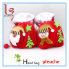 Sacs portatifs de cadeau du père noël de tissu rouge de Pleuche de produits de Noël de décorations de Noël