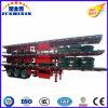 반 Jushixin 40FT 3 차축 편평한 침대 콘테이너 트레일러