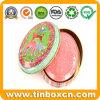 Ovaler Geschenk-Seifen-Zinn-Kasten für das kosmetische Metallzinn-Verpacken