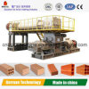 Máquina da extrusora do tijolo da argila para 3Sul da Ásia