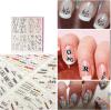 Стикер ногтя стикеров искусствоа ногтя переноса воды этикет цветка алфавита