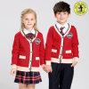 Maglione del cardigan lavorato a maglia pullover primario dell'uniforme scolastico del V-Collo