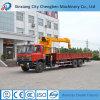 Gru montata camion mobile idraulico della rotella 12ton dell'asta