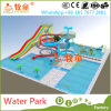 Parque ao ar livre da água dos miúdos, campo de jogos da corrediça de água