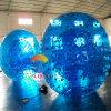 Bille gonflable bleue de Zorb de rouleau de PVC pour le roulement d'herbe