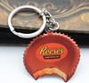 Изготовленный на заказ металл Keychain формы шоколада печатание