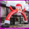 2016 heiße verkaufenled aufblasbaren roten Weihnachtsmann-Weihnachtsbogen für Partei/Dekoration beleuchtend