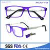 Les gosses amincissent les lunettes ovales pourprées en verre carrés optiques