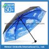 Зонтик пасмурного неба способа автомобиля открытый напечатанный прямой