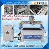 Router barato do CNC do chinês com a máquina de estaca do plasma