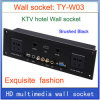 Do painel video da tomada da informação da rede RJ45 do USB do VGA do soquete de parede HD HDMI preto Home do soquete de parede Ty-W03 dos quartos de hotel KTV de /Multimedia