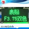 F3.75 sola tarjeta dual roja de interior del color LED