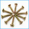 Tornillos amarillos del conglomerado del laminado del cinc para el panel de fibras de madera