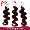 Extensão profissional do cabelo humano de Ombre do Virgin brasileiro da alta qualidade