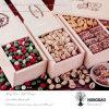 Hongdao modifica la caja de embalaje impresa del regalo para requisitos particulares dulce de madera para el _E de la galleta del caramelo