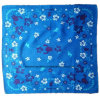 Bandana promotionnel bleu personnalisé d'écharpe de tête de coton imprimé par logo