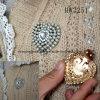 Rhinestone con le clip dell'indumento del cuore della perla (HW3251)