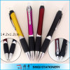 Gift di plastica Ball Pen con Rubber Grip e Metal Clip