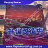 Kundenspezifische transparente bekanntmachende Fahne, Gewebe-Fahnen-Drucken