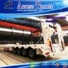 4 assen 80 van de Lage Ton Aanhangwagen van het Bed Semi, de Aanhangwagen van de Vrachtwagen Lowbed