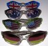 Drapeau sur la série de lunettes de soleil d'objectif
