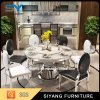 Mobília de aço inoxidável Mesa de sala de jantar de metal redondo