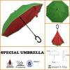 A inovação nova do projeto upside-down/inverteu Revverse C-Segura o guarda-chuva