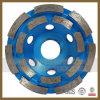 Абразивный диск чашки диаманта 4 дюймов конкретный с двойным рядком