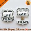 Movimentação do flash do USB da forma do logotipo para os presentes de Película Companhia (YT-FC)
