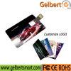 Memoria Flash plástica desplazable del USB de la tarjeta para el regalo de encargo