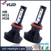 高い内腔4500lm H8 H9 H11 H16 LEDのヘッドライト