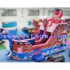 Pirate Ship Inflatable Bouncer / Children Bouncer Castle / gonflable Slide Bouncer