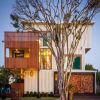 Edificio prefabricado modular de la estructura de acero de la casa del marco de acero del almacén de la casa de la casa del envase de la fuente