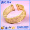 Modèle gravé creux fait sur commande de bracelet avec le placage à l'or