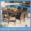 Sale caldo Outdoor Furniture Rattan Dining Set con 8 Armless Chairs