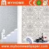 Papel de parede profundamente gravado branco da flor