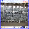 Conteneur en acier galvanisé empilable pliable de fil pour la mémoire d'entrepôt