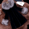 Womenのための贅沢なWinter Rabbit Fur Coat 2015年