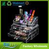 Organizador de acrílico claro del almacenaje del cosmético y de la joyería 2-Piece (tapa rectangular + 4 cajones)