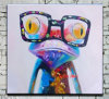 Heißes Selling Colorful Paintings auf Canvas Funny Animal Pictures Handmade Frog Ölgemälde auf Canvas für Home Deocr Kids Raum Wallpaper Paintings Wall Stickers