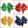 Boutique Hairbows di Hair Bows Polka DOT Grosgrain Ribbon Hair Clips del bambino per Girl Headwear Accessories