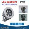 Proyector al aire libre de aluminio amarillo 6W 9W 12W de la decoración LED del reflector IP65 de la proyección del RGB del blanco verde