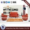 Sofá moderno Hx-S3085 do alto densidade ajustado do sofá do couro do escritório