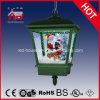 계절 눈이 내리는 산타클로스 크리스마스 음악 거는 램프
