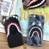 Het leuke Geval van het Leer van de Haai van het Beeldverhaal voor iPhone6